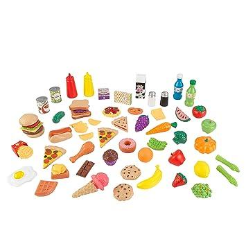KidKraft 63510 65-teiliges Spielzeug-Lebensmittel-Set Zubehör für ...