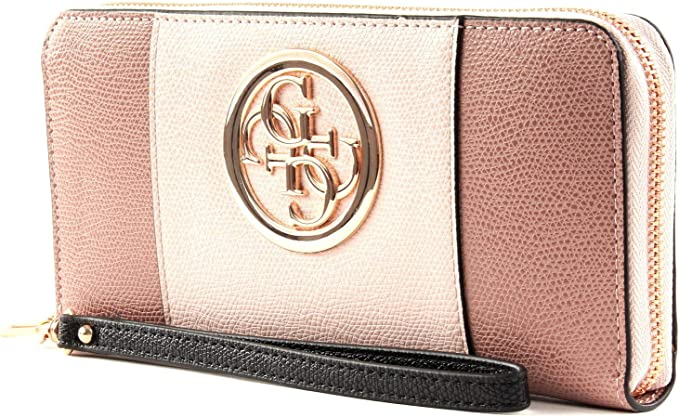 Guess Open Road Wallet Large blush multi: : Schuhe