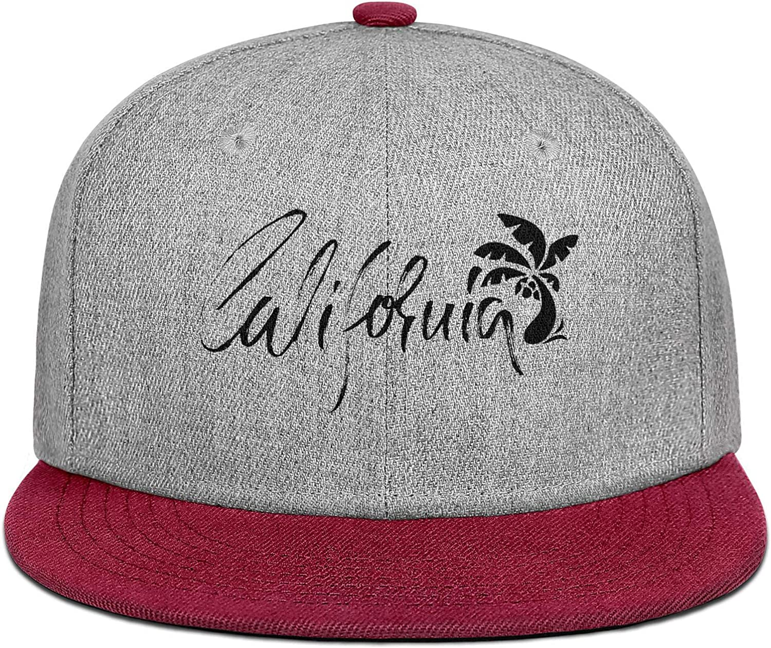 FYFYOK Mens Womens Trucker Hat California Retro Coconut Palm Logo Snapback One Size Caps