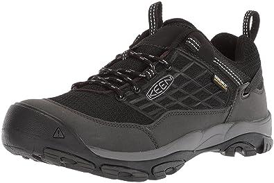KEEN Men's Saltzman WP-M Hiking Shoe, Black/Raven, ...