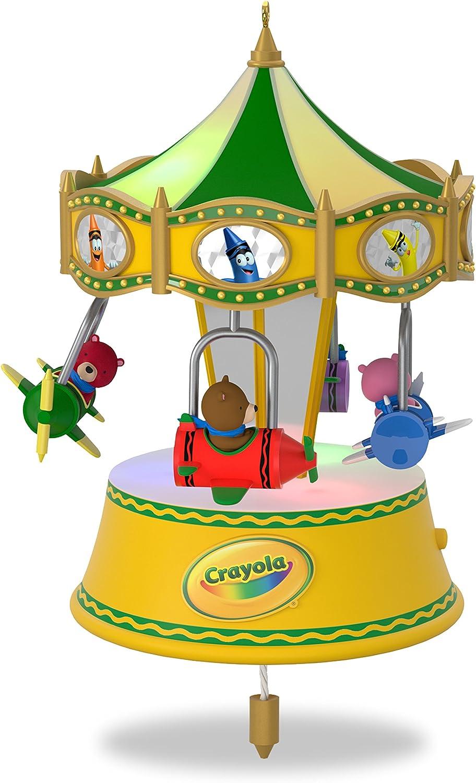 Hallmark Crayola Crayons Ornament Color Me Merry Go Round 2017 Bear Playground