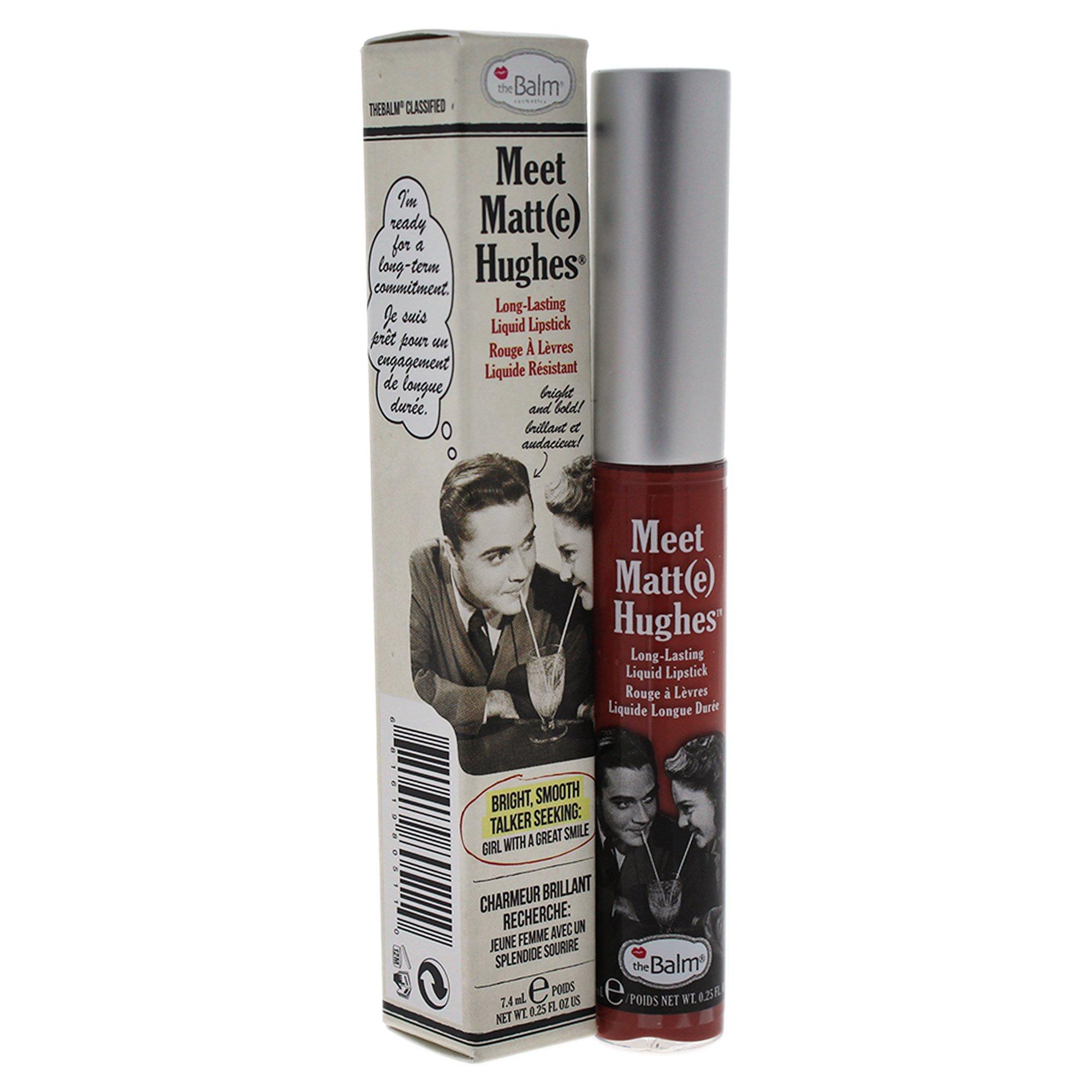 theBalm Meet Matte Hughes Long-Lasting Liquid Lipstick, Committed, Lightweight Matte Finish by theBalm