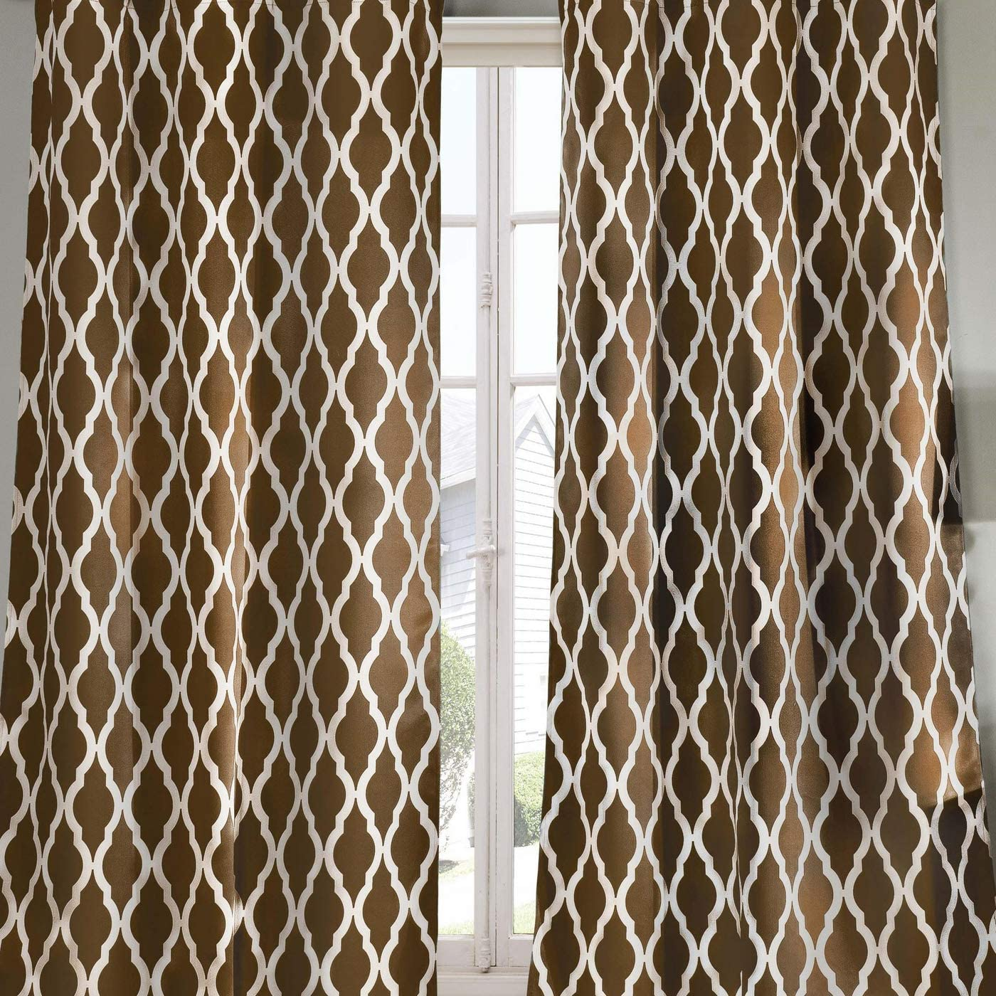 38 x 84 Green Blackout365 Kittattinny Heavy Geometric Blackout Window Curtain Set of 2 Panels