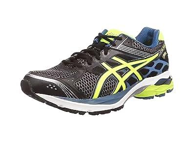Asics Gel-pulse 7 G-tx, Chaussures de Running Entrainement Homme - Noir (black/flash Yellow/mosaic Blue 9007), 39 1/2 EU (5.5 UK )
