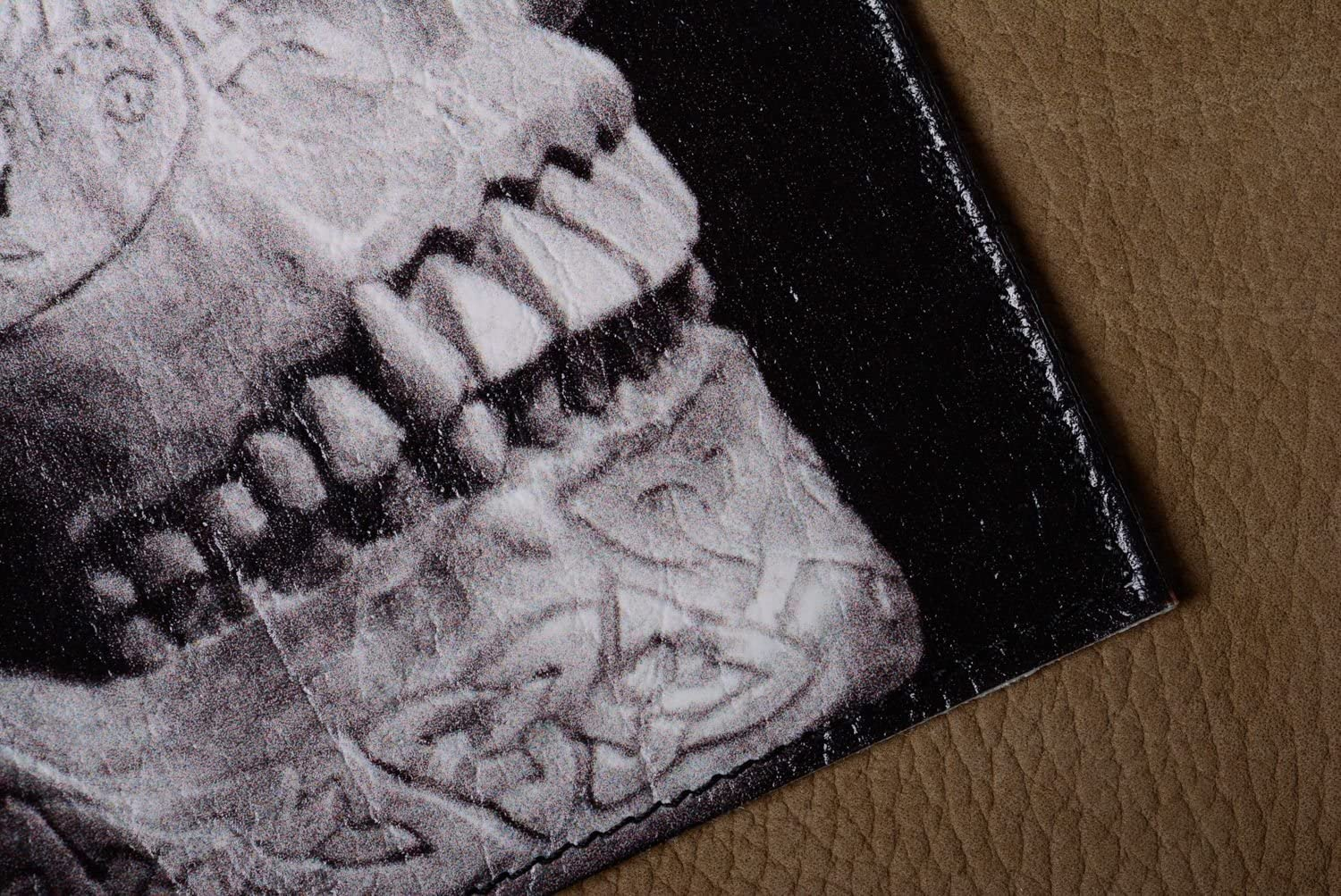 Handmade Artificial Leather Passport Cover With Print Relic