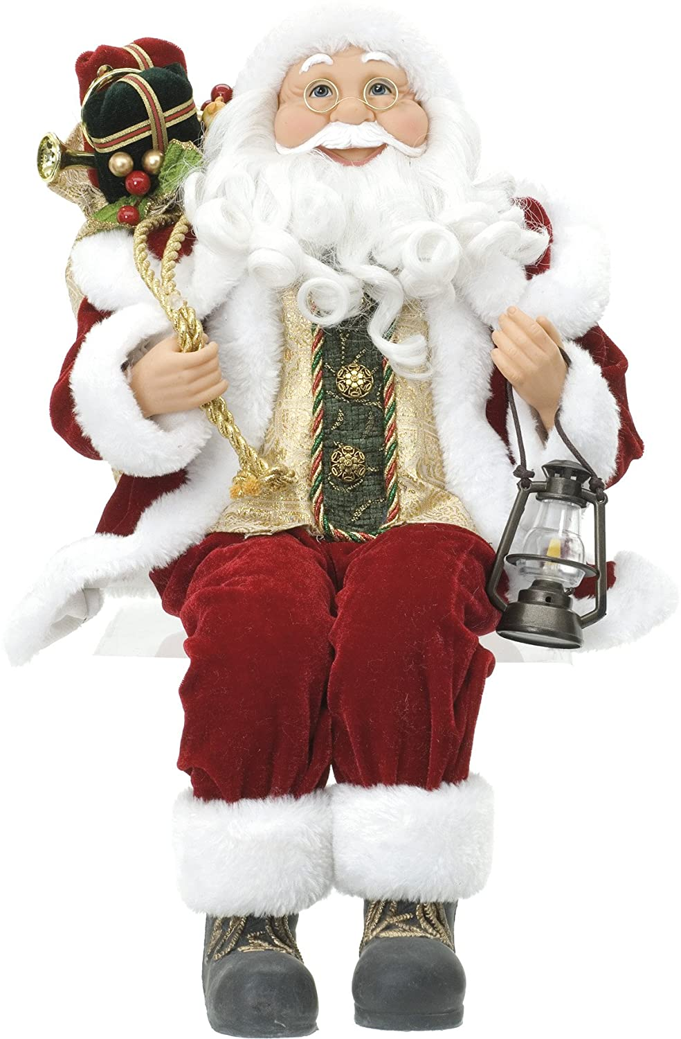 Christmas Decorations - 45cm Sitting Father Christmas Soft Toy ...