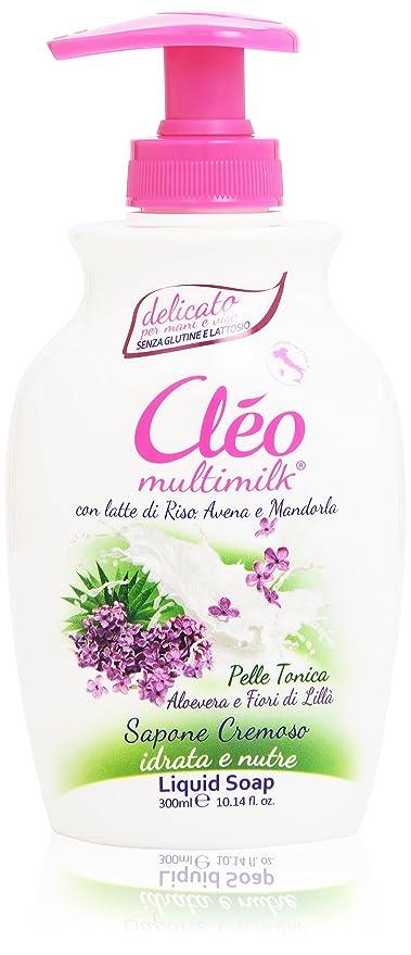 Cléo – Jabón cremoso, con leche de arroz, avena y Almendras – 300 ml