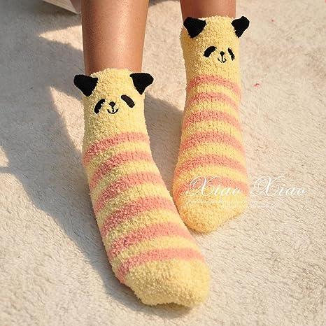 Calcetines extra gruesa para deslizar el piso en la defensa aérea calcetines calcetines de lana coral