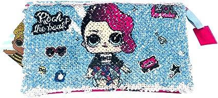 Estuche Escolar Triple Lol Surprise Rock Estuche infantil Niña Estuche con lentejuelas reversibles Doble imagen 21 cm: Amazon.es: Oficina y papelería