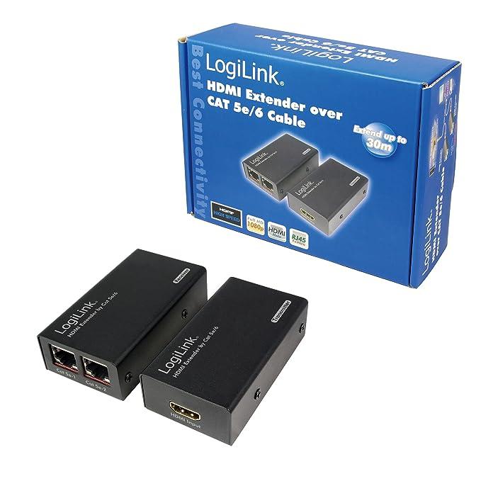 logilink hdmi extender  LogiLink Video Extender da HDMI a CAT5: : Elettronica