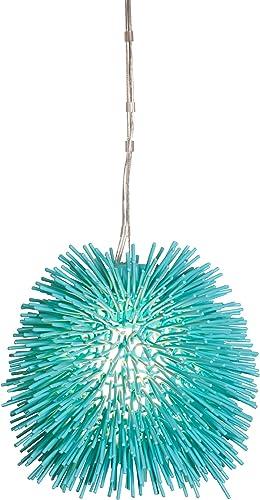 Urchin 1-Light Mini Pendant – Aqua Velvet Finish