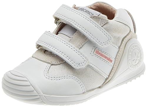 Biomecanics 182142, Zapatillas de Estar por Casa para Bebés, Blanco/Yeso (Sauvage/Lona), 23 EU
