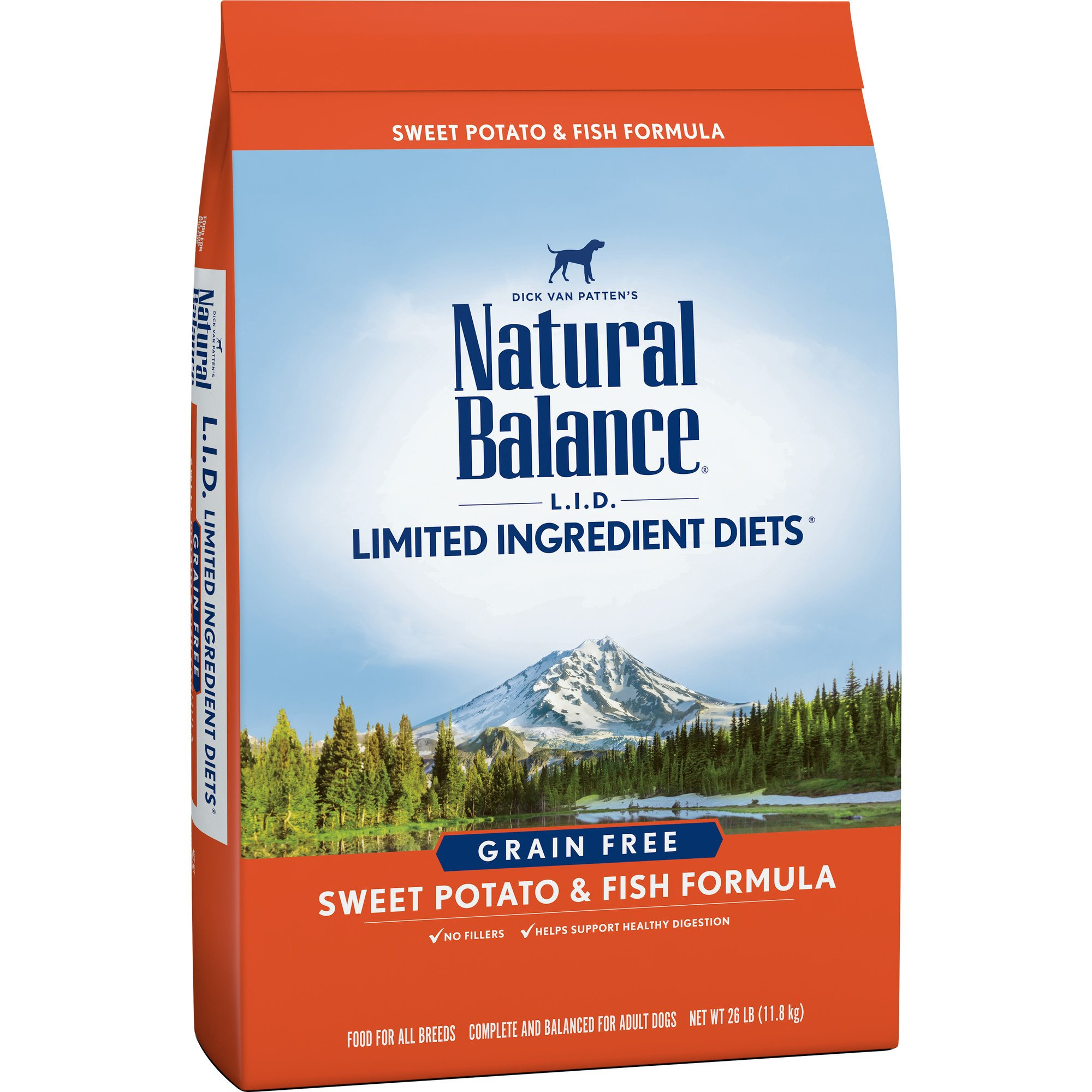 Natural Balance Limited Ingredient Diets Sweet Potato & Fish Formula Dry Dog Food, 26 Pounds, Grain Free by Natural Balance