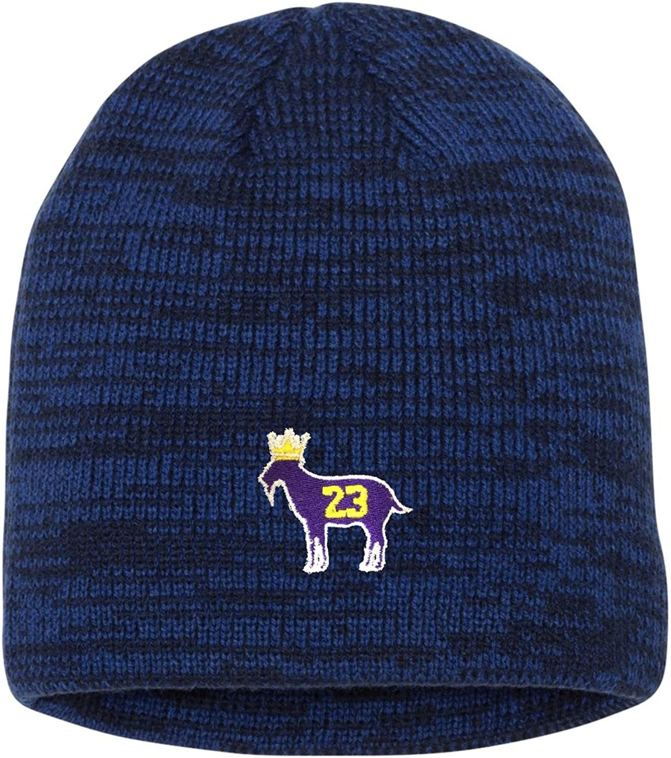 Adult Goat James G.O.A.T King Embroidered Marled Knit Beanie Cap