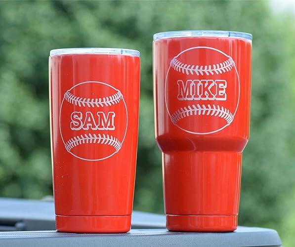 d990c0c3e05 Amazon.com: RED Tumbler - Baseball Tumbler - Sports Tumbler ...