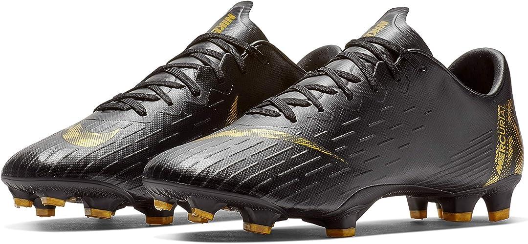 Nike Mercurial Vapor 12 Elite FG Soccer Cleats Metallic Gold SZ AH7380-077
