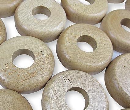 Collares de madera para tuberías de radiador de 15 mm en madera con efecto haya en