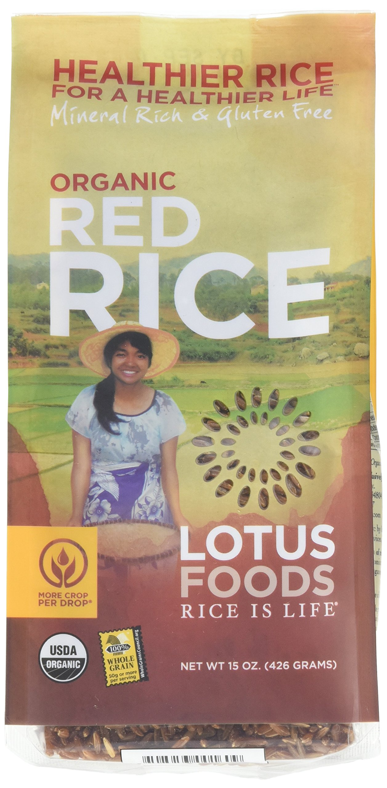 Lotus Foods Organic Red Rice, 15-Ounce (Pack of 6)