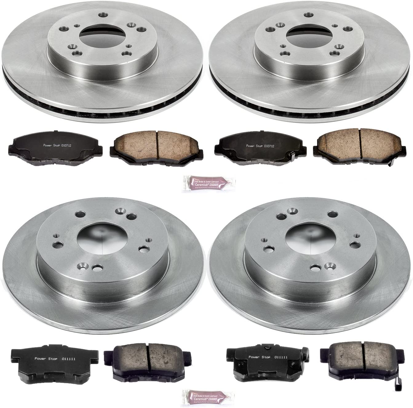 2013 For Acura ILX Front Set Ceramic Brake Pads with 2 Years Manufacturer Warranty Both Left and Right