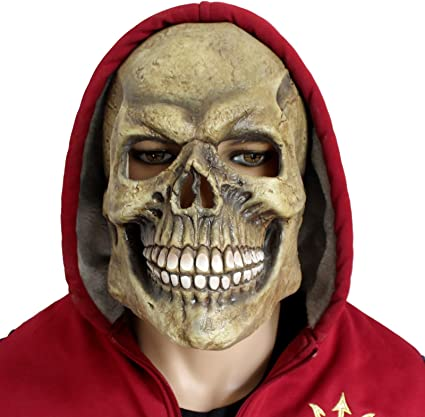 Creepyparty Deluxe Novelty Halloween Costume Party Latex Human Head Mask Strong