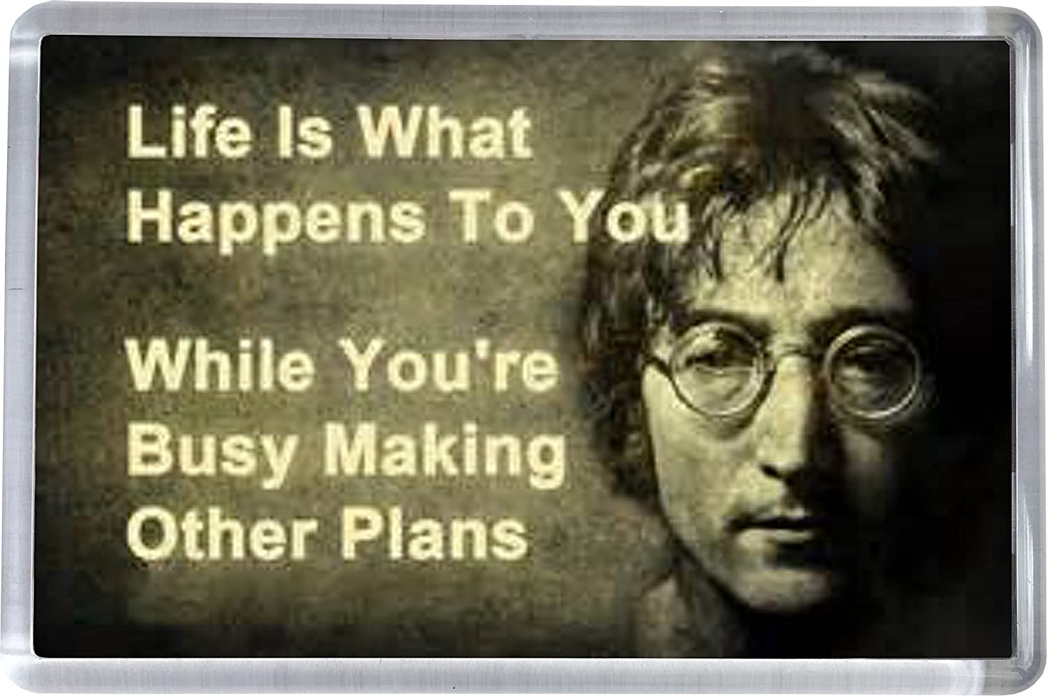 FRIDGE MAGNET John Lennon Quote Super Universe