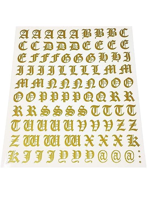 Quattroerre 1211 Kit Lettere Adesive Gothic Oro Amazonit Auto E Moto