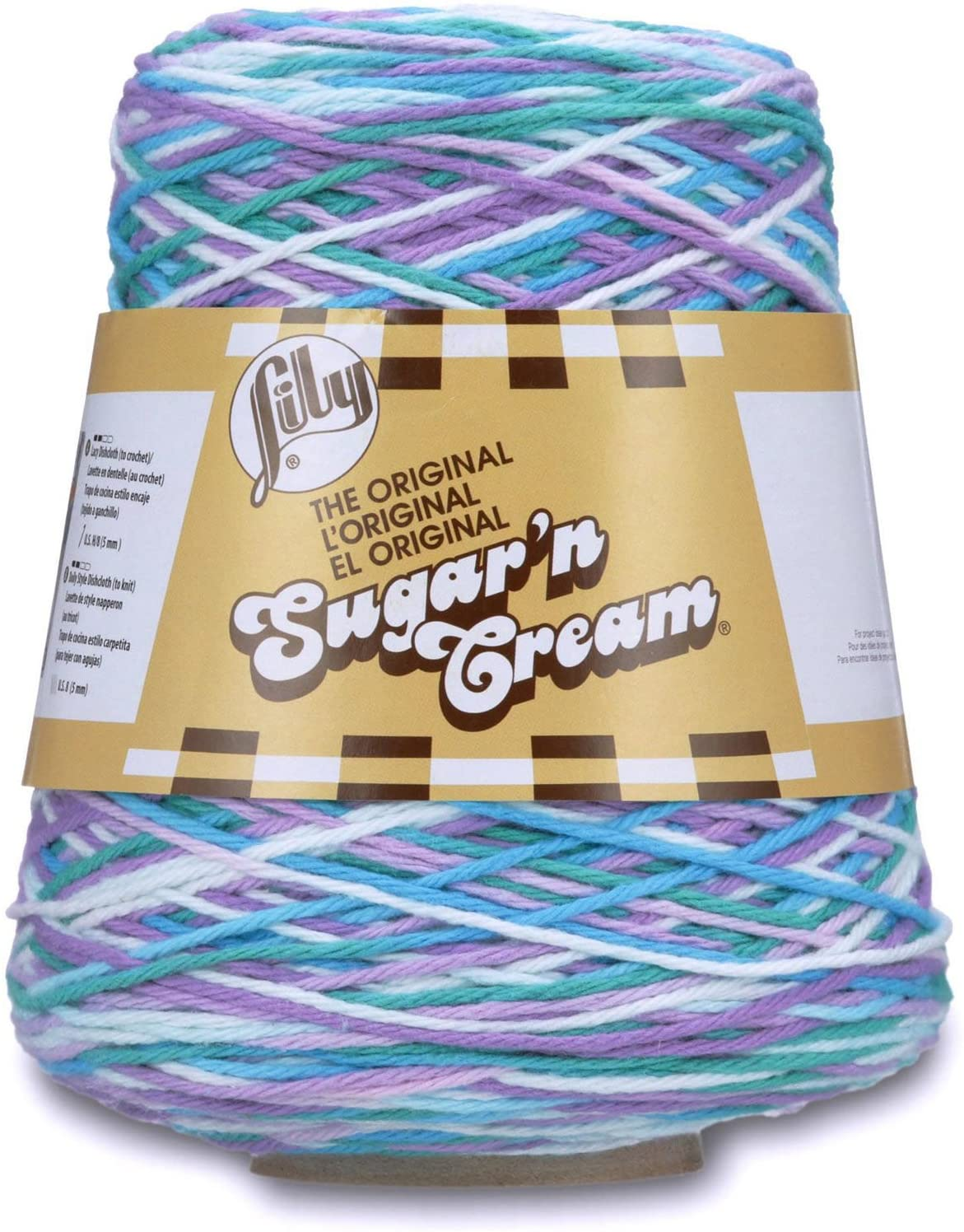 14 oz Nautical Ombre Lily Sugar/'n Cream Cotton Cone Yarn 1 Cone