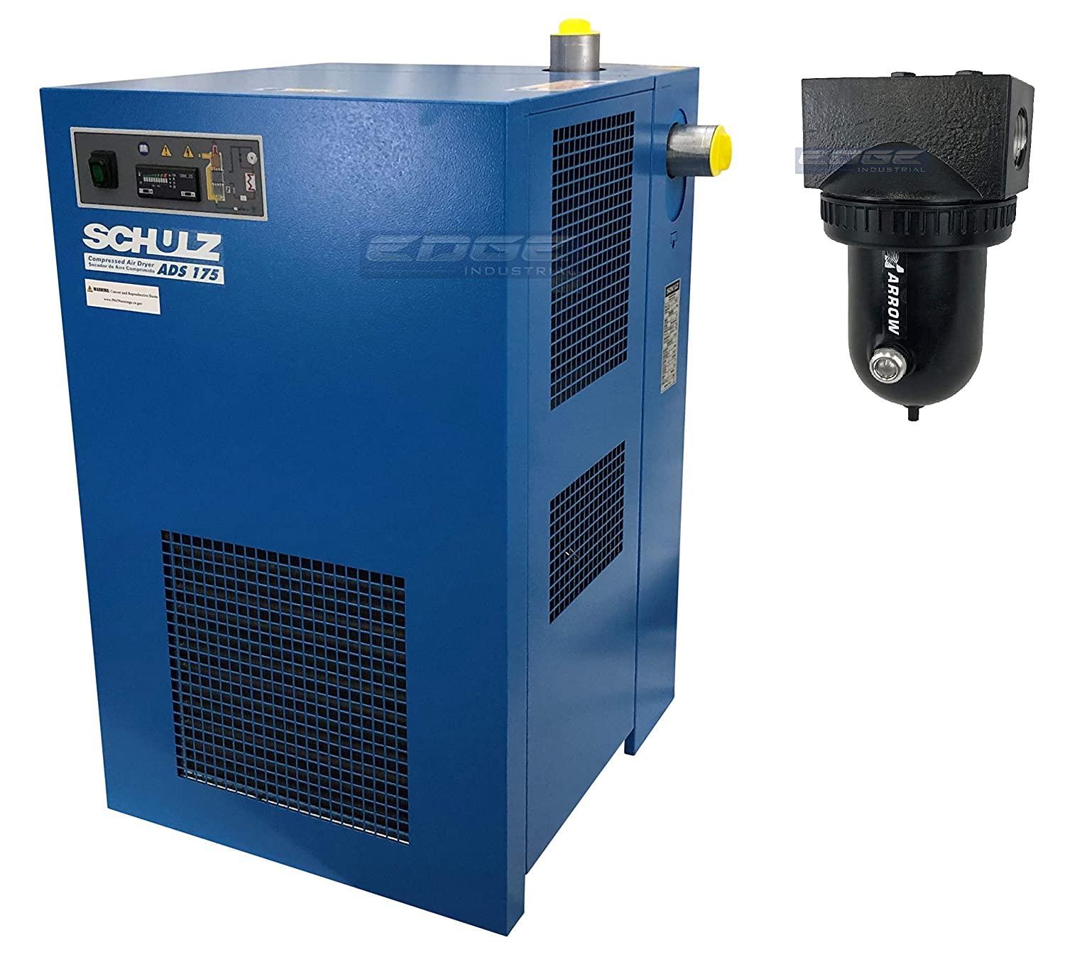 100 CFM Good for 20HP /& 25HP COMPRESSORS Schulz REFRIGERATED AIR Dryer for AIR Compressor Stand Alone Dryer Compressed AIR Systems