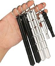 AMATHINGS 2-4 Stück Kubotan/Druckverstärker Geriffeltem Griff Und Schlüsselring Auch Als Notfallhammer Zu Verwenden 100% Legal