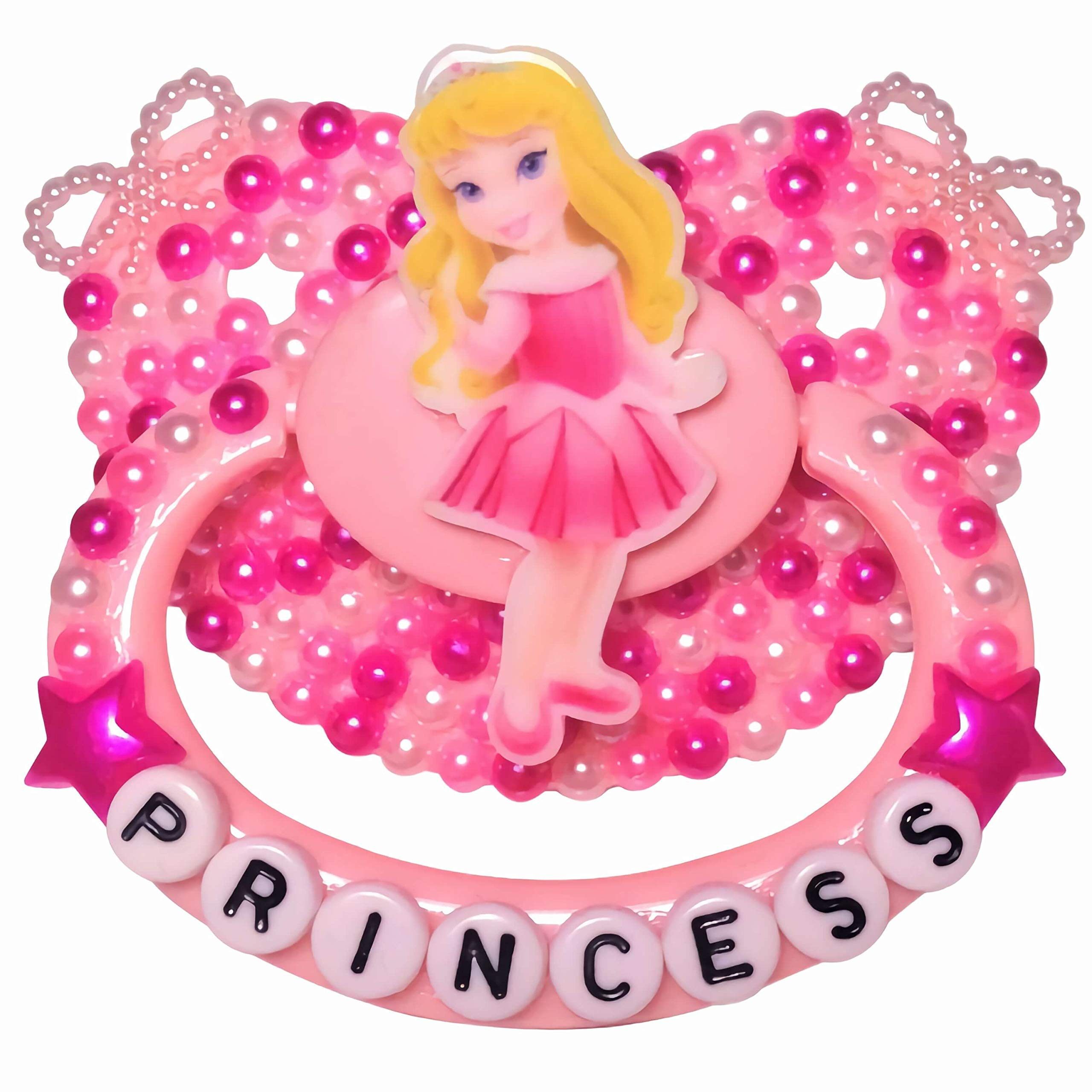 Baby Bear Pacis Adult Pacifier,''Princess'' Pink Sleeping Beauty Adult Paci (DDLG/ABDL) by Baby Bear Pacis