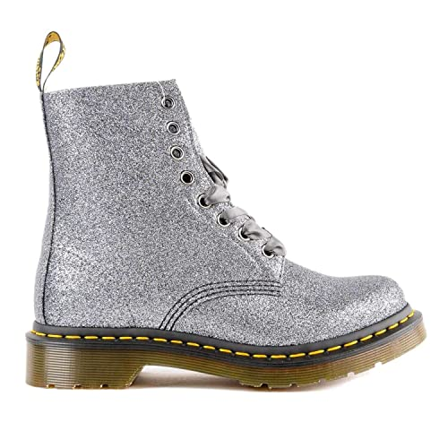 DR.MARTENS 1460 8 Eyes Pascal Glitter Pewter