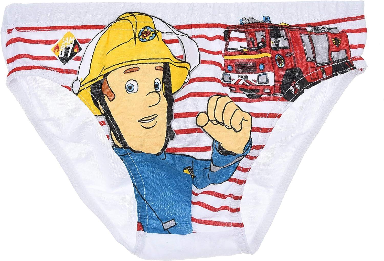 Hit Entertainment Jungen Kinder Unterhosen Feuerwehrmann Sam 3er-Pack