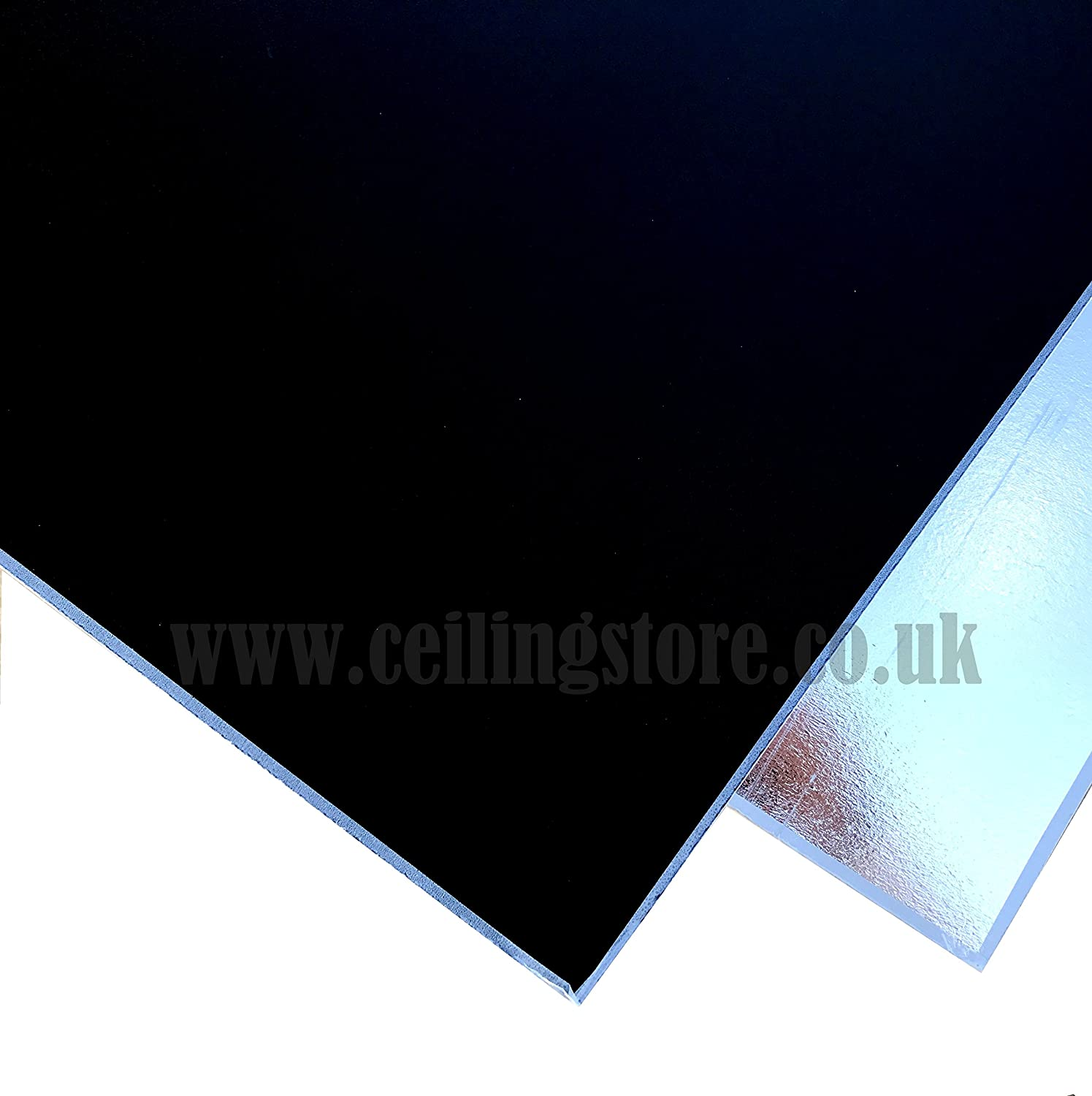 BLACK Suspended Vinyl PVC Gypsum Laminated Tiles - Easy Clean & Wipe Able 595mm x 595mm CEILING EXPERT