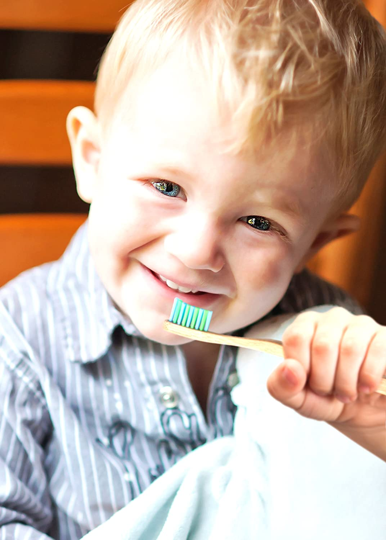Cepillos de dientes para niños de bambú superecológicos biodegradables, marca WooBamboo (2 unidades): Amazon.es: Salud y cuidado personal
