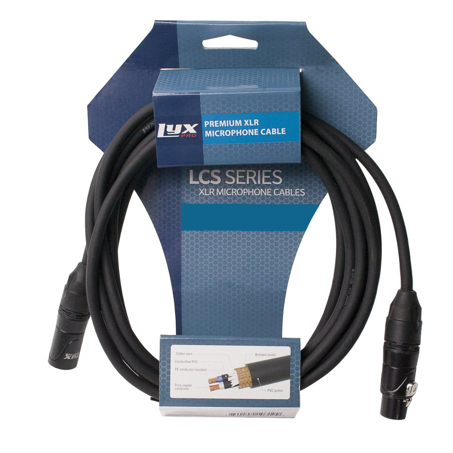 Powered Speakers and Other Pro Devices Cable LyxPro Balanced XLR Cable 15 ft Premium Series Professional Microphone Cable Blue