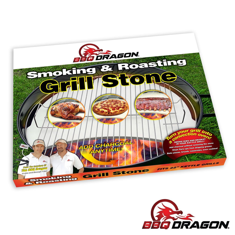 Amazon.com : BBQ Dragon Heat Deflecting Grill Stone, Smoking Stone ...