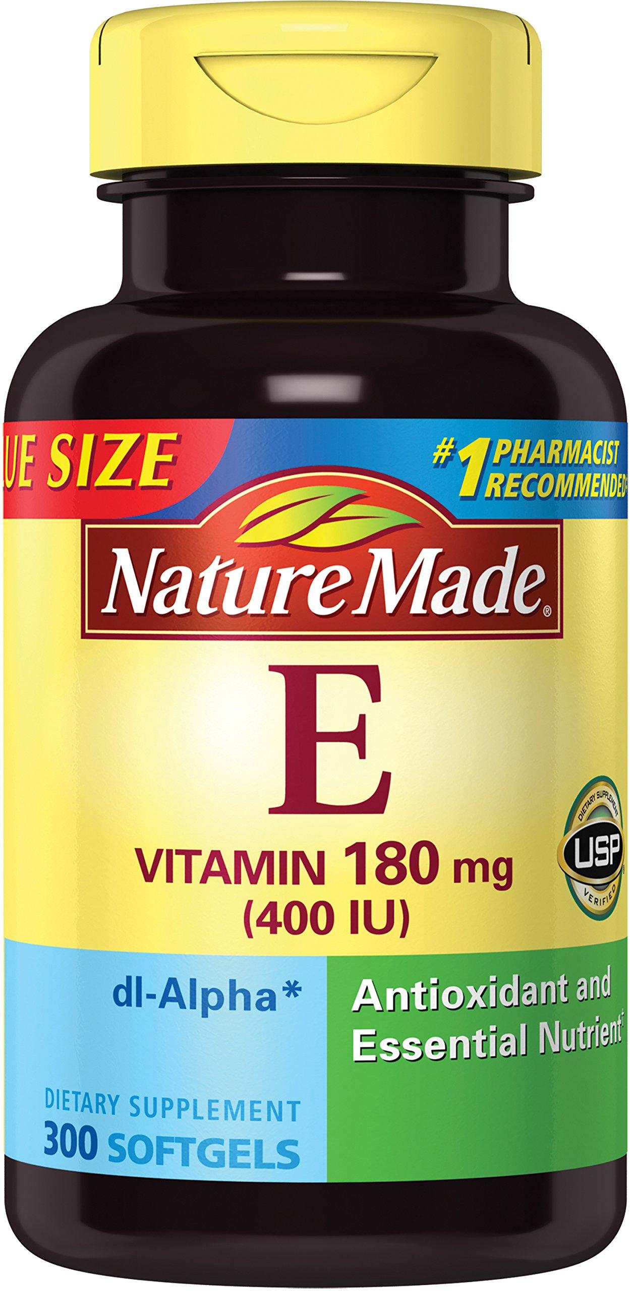 Nature Made Vitamin E 400 IU Softgels, 300 ct