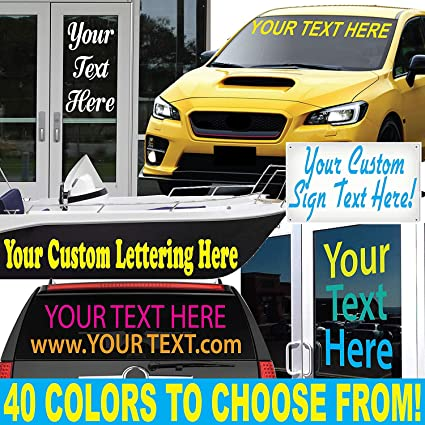 6a552ca0e7df03 1060 Graphics 8 quot  High by Up to 48 quot  Long - Custom Vinyl Lettering -
