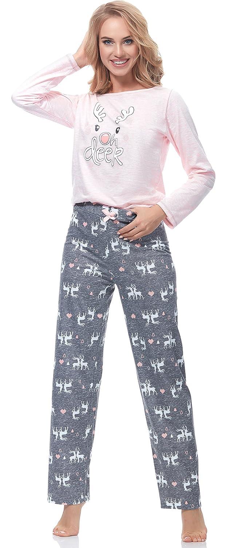 Merry Style Pijamas Conjunto Camisetas Mangas Largas y Pantalones Largos Ropa de Cama Interior Lencería Mujer 1193: Amazon.es: Ropa y accesorios