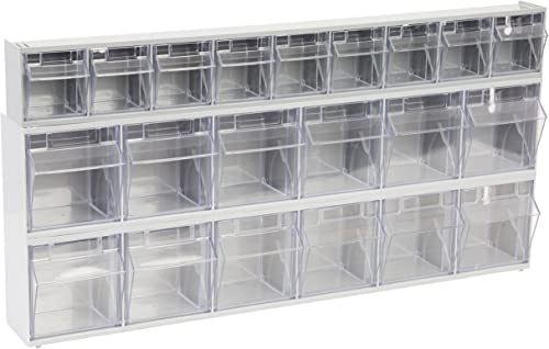 OEMTOOLS 22181 21-Bin Set Store Small, Hardware 23.625 x 12 Labels Included, Quickly Find the Parts You Need Build Easy to Mount Tool Storag, Gray