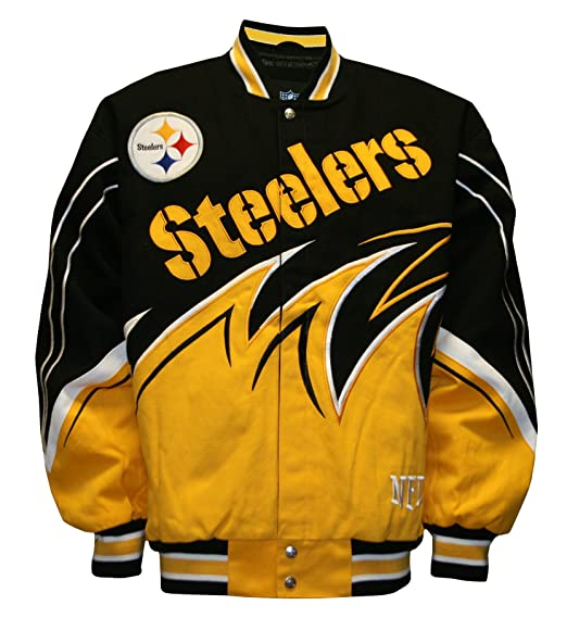 382e2cee2 Amazon.com : NFL Men's Pittsburgh Steelers Slash Jacket (Black/Gold ...