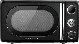 Galanz GLCMKA07BKR-07 Retro 0.7 cu. Ft. 700-Watt Countertop Microwave, Vinyl Black