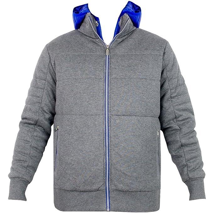 Hugo Boss Mens Invierno cálido Sereno Gris Abrigo Chaqueta con Desmontable de Cuerpo Calentador: Amazon.es: Ropa y accesorios
