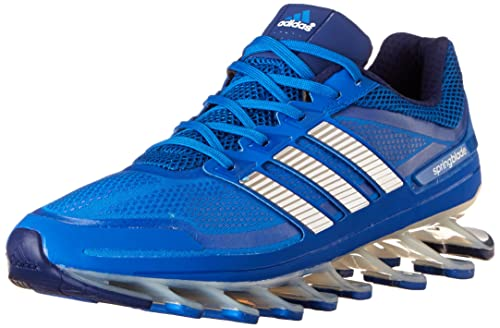 the latest f62fd c7e1b adidas Men s Springblade Running Shoe, Blue Beauty Metallic Silver Night  Blue, 12