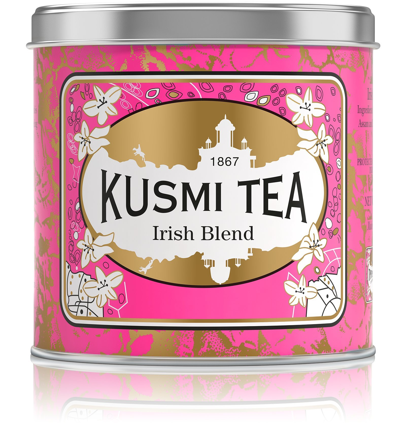 Kusmi Tea - Irish Tea Blend of Assam & Darjeeling Black Teas - 8.8oz 100 Servings