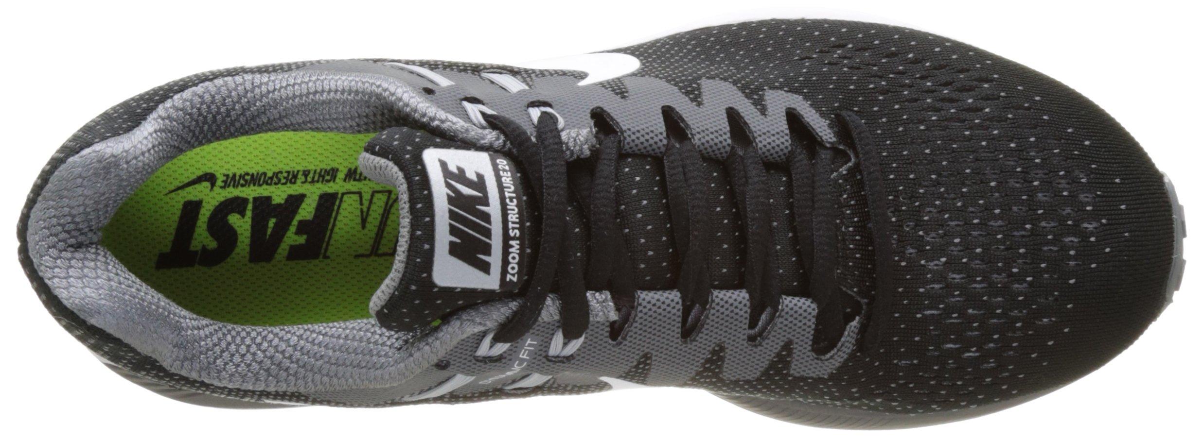 Nike Men's Air Zoom Structure 20 Black/White/Cool Grey Running Shoe 10.5 Men US