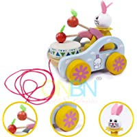 ONBN® Kids Toys Pulling Toys Wooden Eco Friendly Innovative Toys for Kids ,Kids Learning Toys Gift Toys for Girls and Boys | Toys for 2,3,4,5,6,7+ Year Old Boys and Girl (Girl Pulling Toy)