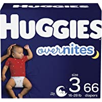 Diapers Size 3 - Huggies Overnites Night Time Disposable Diapers, 66ct, Giga Pack 66 count