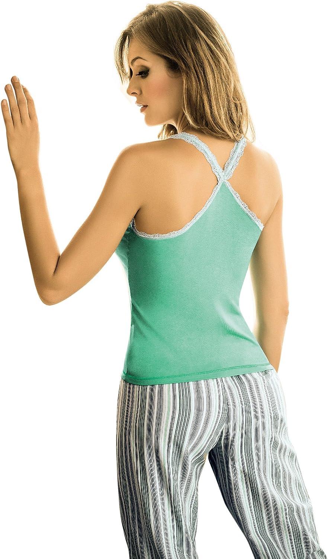 Adriana Arango de pijama 2 piezas blusa para mujer diseño de ...