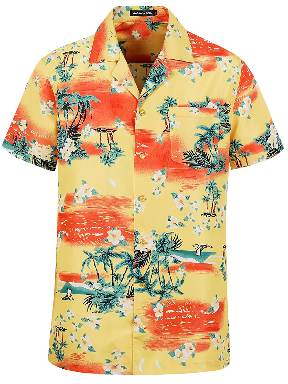 c394b9cd Online Cheap wholesale Hopioneer Men's Tropical Flower Hawaiian Shirt  Casual Short Sleeve Floral Beach Holiday Party Button-Down Shirts Suppliers